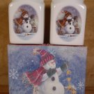 THE MAGIC OF CHRISTMAS STONEWARE SALT & PEPPER SET *NIB