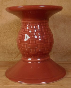 LONGABERGER WOVEN TRADITIONS PAPRIKA CANDLE HOLDER *EUC