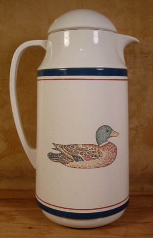 CORELLE DUCK THERMIQUE HOT & COLD THERMAL CARAFE *EUC*