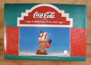 COCA-COLA 1997 SNOWMAN PARADE SANTA IN CHIMNEY*MIB*