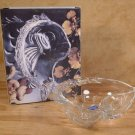 "STUDIO NOVA OCEANS GIFT FISH 6"" CRYSTAL CANDY BOWL *NIB*"