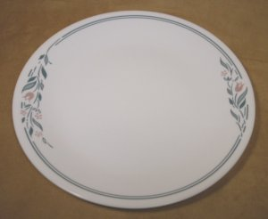 CORELLE ROSEMARIE FLORAL DINNER PLATES SET OF 4 *VGC*