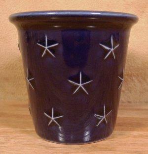 LONGABERGER PROUDLY AMERICAN BLUE W/STARS VOTIVE CUP
