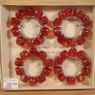 MANGO MOON COLLECTION NAPKIN RINGS SET OF 4 *NEW IN BOX*