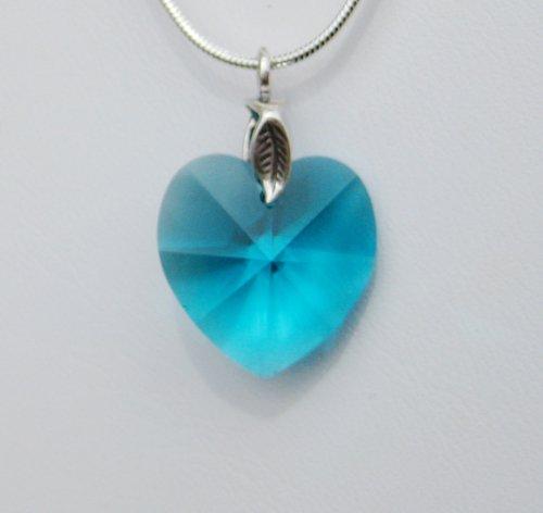 Blue Zircon Swarovski Crystal Necklace
