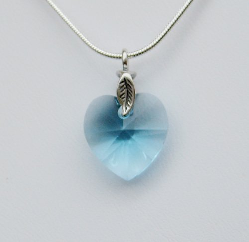 Aqua Swarovski Crystal Necklace