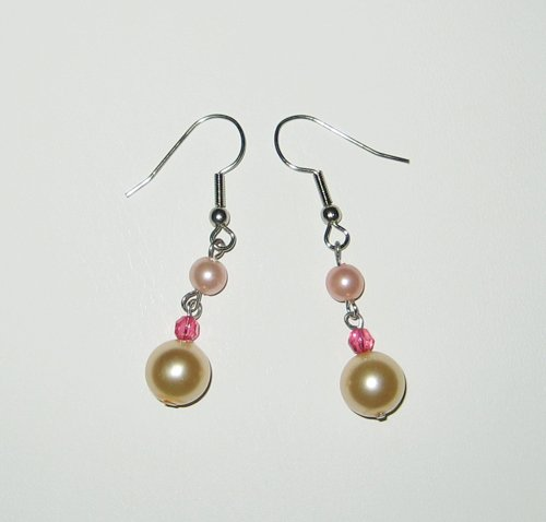 Baby Pink Pearl Earrings