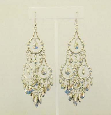 Silver Chandelier Earings