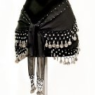 Belly Dancing Coin Belt: Black