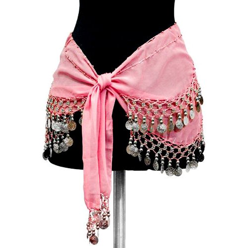 Belly Dancing Coin Belt: Pink