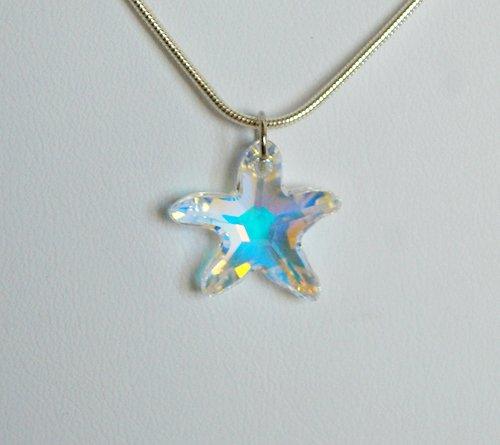 Swarovski Starfish Crystal AB Necklace