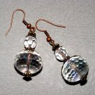Artisan Handmade Quartz and Swarovski Crysal earrings