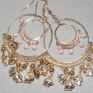 Gipsy goldtone elephant chandelier earrings