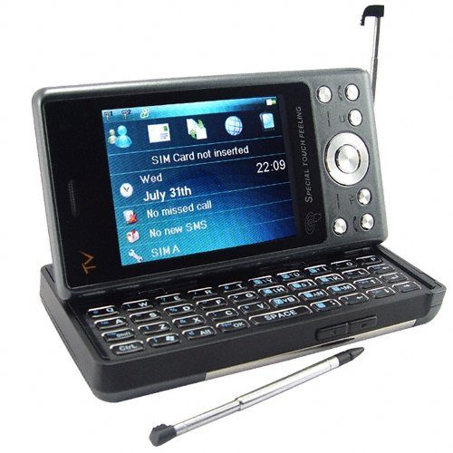 PDA TV Phone + QWERTY Keyboard + Dual SIM  [CVSDW-9802]