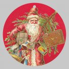 Victorian Style Santa Clause Porcelain Christmas Ornament - Red Vintage Santa - NEW