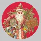 Victorian Style Santa Clause Porcelain Christmas Ornament - Red Vintage Santa - NEW