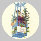 Victorian Style Santa Clause Porcelain Christmas Ornament - Dutch Balloon Santa - NEW