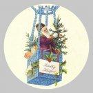 Victorian Style Santa Clause Porcelain Christmas Ornament - Dutch Balloon Santa - NEW
