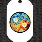 "ALUMINUM DOG TAG With 30"" CHAIN - Tie Dye Ying-Yang - NEW"