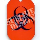 "ALUMINUM DOG TAG With 30"" CHAIN - Biohazard - NEW"