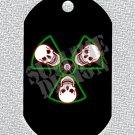"ALUMINUM DOG TAG With 30"" CHAIN - Radiation Skulls - NEW"