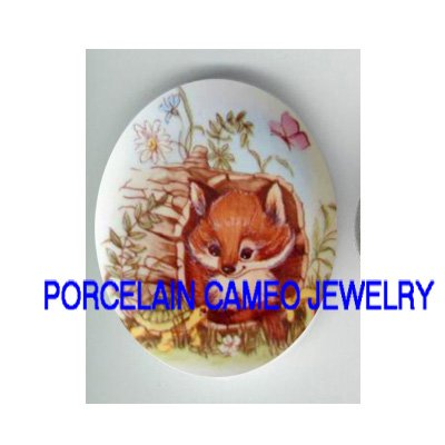 BABY FOX TURTLE BUTTERFLY UNSET CAMEO PORCELAIN CABO