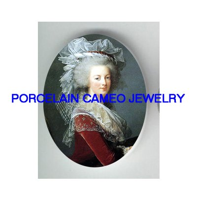 FRENCH QUEEN MARIE ANTOINETTE UNSET CAMEO PORCELAIN CABO