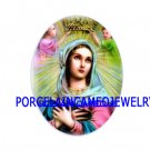 CROWN VIRGIN MARY WITH ANGEL UNSET CAMEO PORCELAIN CABO