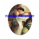 ROMEO KISSING JULIA* UNSET CAMEO PORCELAIN CABOCHON