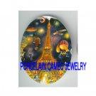 PARIS EIFFEL TOWER BALLOON * UNSET CAMEO PORCELAIN CABOCHON