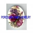 LAVENDER PURPLE ROSE WITH VIOLET UNSET CAMEO PORCELAIN