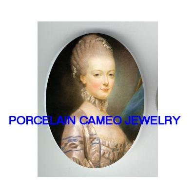 FRENCH QUEEN MARIE ANTOINETTE CAMEO PORCELAIN CABOCHON