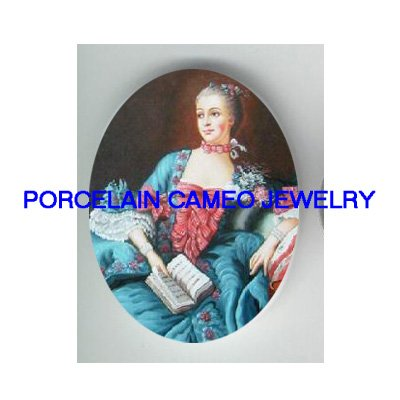 QUEEN MARIE ANTOINETTE READ BOOK CAMEO PORCELAIN CABO