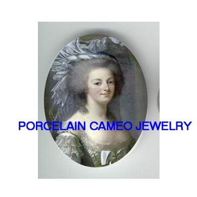 QUEEN MARIE ANTOINETTE BLUE RIBBON CAMEO PORCELAIN CABO