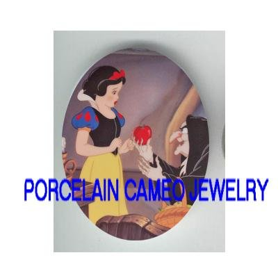 SNOW WHITE AND APPLE  * UNSET CAMEO PORCELAIN CAB