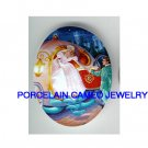 CINDERELLA WITH CARRIAGE * UNSET CAMEO PORCELAIN CAB