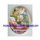 SLEEPING BEAUTY WITH ROSE AND PRINCE * UNSET CAMEO PORCELAIN CAB