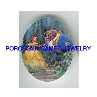 BEAUTY AND THE BEAST* UNSET CAMEO PORCELAIN CAB