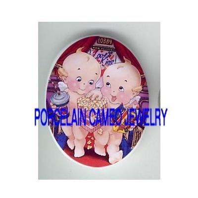 2 KEWPIE BABY SHARE POPCORN* UNSET CAMEO PORCELAIN CAB