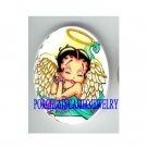 BETTY BOOP ANGEL WITH HALE UNSET CAMEO PORCELAIN CAB