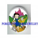 BETTY BOOP WIZARD OF OZ * UNSET CAMEO PORCELAIN CAB