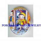 SHOPPING BETTY BOOP WITH DOG * UNSET CAMEO PORCELAIN CAB