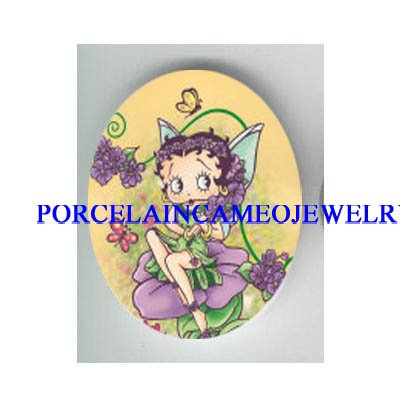 BETTY BOOP BUTTERFLY FAIRY* UNSET CAMEO PORCELAIN CAB