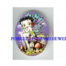 BETTY BOOP BUTTERFLY FAIRY MUSHROOM* UNSET CAMEO PORCELAIN CAB