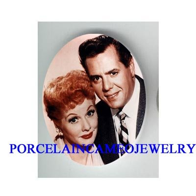I LOVE LUCY UNSET PORCELAIN CAMEO CABOCHON 30X40MM