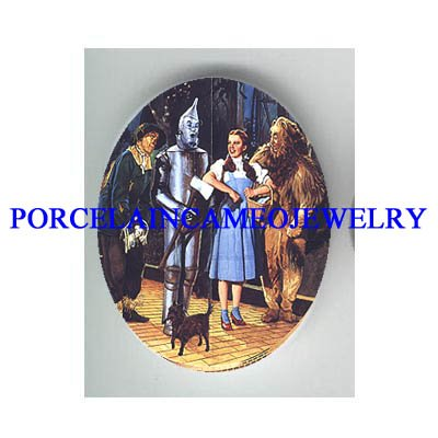 THE WIZARD OF OZ * UNSET CAMEO PORCELAIN CAB 30X40MM - 110401204734