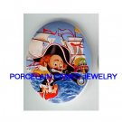 CIRCUS CLOWN PIRATE SHIP UNSET CAMEO PORCELAIN CAB
