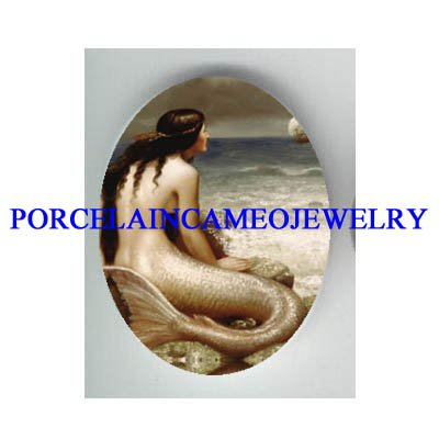 VICTORIAN MERMAID WAITING FOR PRINCE  * UNSET CAMEO PORCELAIN