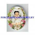 BETTY BOOP ANGEL ROSE* UNSET CAMEO PORCELAIN CAB