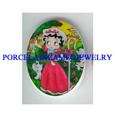 Little Bo Peep BETTY BOOP PUPPY DOG* UNSET CAMEO PORCELAIN CAB